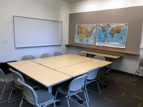 Photo of empty conference room